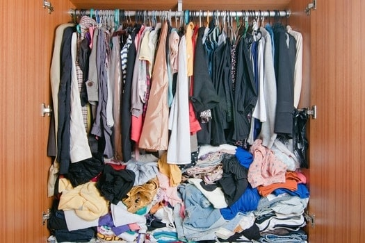 finding bed bugs in the closet